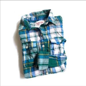 Mossimo green plaid flannel long sleeve small